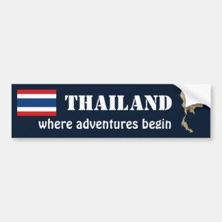 Drapeau de la Thaïlande + Adhésif pour pare-chocs  Adhésifs Pour Voiture