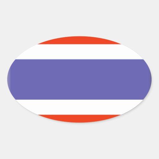 Drapeau de la Thaïlande Sticker Ovale