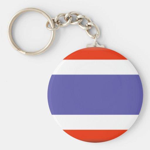 Drapeau de la Thaïlande Porte-clé