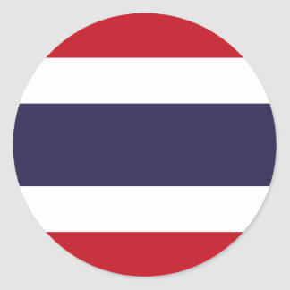 Drapeau de la Thaïlande Sticker Rond