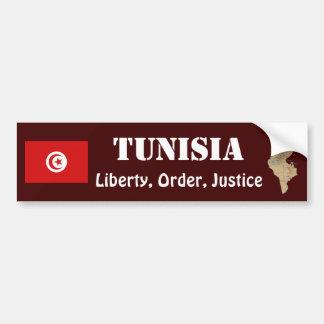 Drapeau de la Tunisie + Adhésif pour pare-chocs de Adhésif Pour Voiture