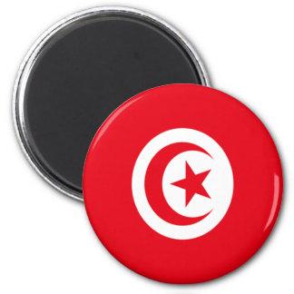 Drapeau de la Tunisie Magnet Rond 8 Cm