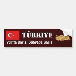 Drapeau de la Turquie + Adhésif pour pare-chocs de Autocollant De Voiture
