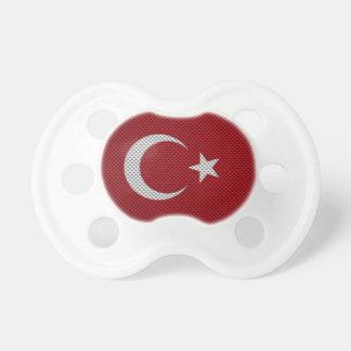 Drapeau de la Turquie avec l'effet de fibre de car Tétine