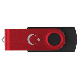 Drapeau de la Turquie Clé USB 2.0 Swivel