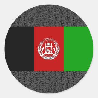 Drapeau de l'Afghanistan Sticker Rond