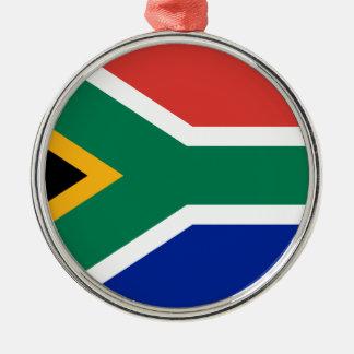 Drapeau de l'Afrique du Sud - Vlag van Suid-Afrika Ornement Rond Argenté