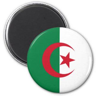 Drapeau de l'Algérie Magnet Rond 8 Cm
