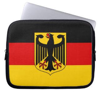 Drapeau de l'Allemagne avec la crête Housse Ordinateur Portable