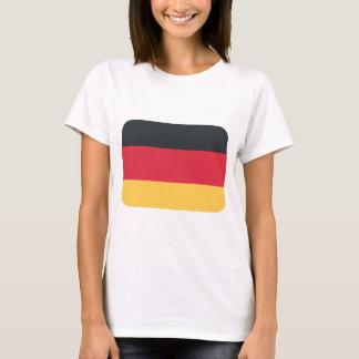Drapeau de l'Allemagne utilisant l'emoji de T-shirt