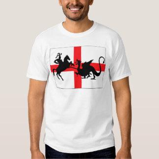 Drapeau de l'anglais du jour de St George T-shirts