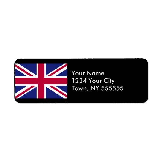 Drapeau de l'Angleterre Étiquette D'adresse Retour