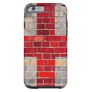 Drapeau de l'Angleterre sur un mur de briques Coque Tough iPhone 6