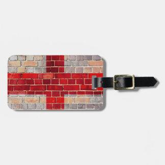 Drapeau de l'Angleterre sur un mur de briques Étiquette À Bagage
