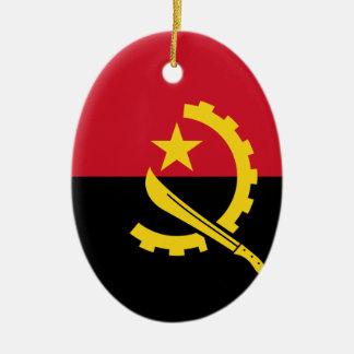 Drapeau de l'Angola - le Bandeira De Angola Ornement Ovale En Céramique