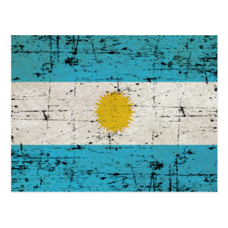 Drapeau de l'Argentine Carte Postale