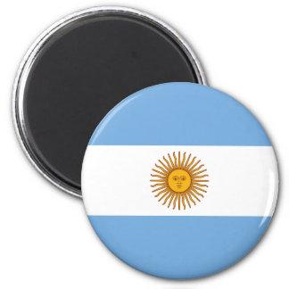 Drapeau de l'Argentine Magnet Rond 8 Cm