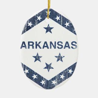 Drapeau de l'Arkansas Ornement Ovale En Céramique