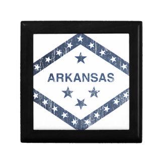 Drapeau de l'Arkansas Petite Boîte À Bijoux Carrée