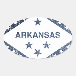 Drapeau de l'Arkansas Sticker Ovale