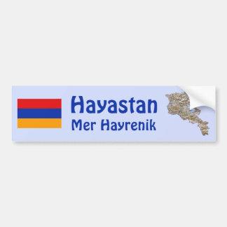 Drapeau de l'Arménie et adhésif pour pare-chocs de Autocollant De Voiture