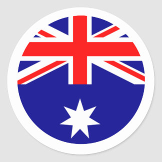 Drapeau de l'Australie - entourez le MUSÉE Zazzle Sticker Rond