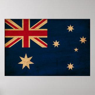 Drapeau de l'Australie Poster