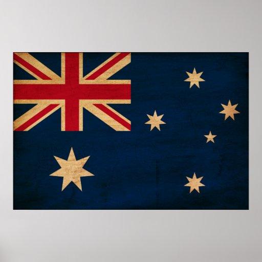 Drapeau de l'Australie Affiches