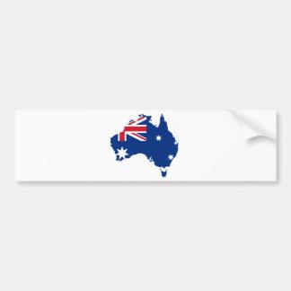 Drapeau de l'Australie sous forme de l'Australie Autocollant De Voiture