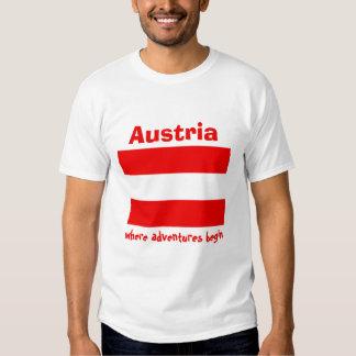 Drapeau de l'Autriche + Carte + T-shirt des textes