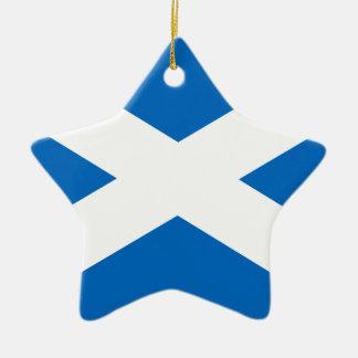 Drapeau de l'Ecosse - drapeau écossais Ornement Étoile En Céramique