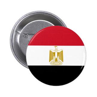 Drapeau de l'Egypte Badge Rond 5 Cm