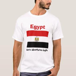 Drapeau de l'Egypte + Carte + T-shirt des textes