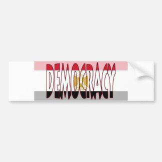 Drapeau de l'Egypte - démocratie Autocollant Pour Voiture