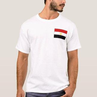 Drapeau de l'Egypte et T-shirt de carte