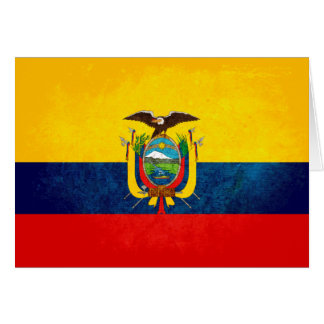 Drapeau de l'Equateur Cartes De Vœux