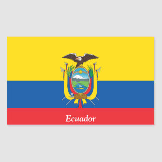 Drapeau de l'Equateur Sticker Rectangulaire