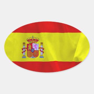 Drapeau de l'Espagne Sticker Ovale