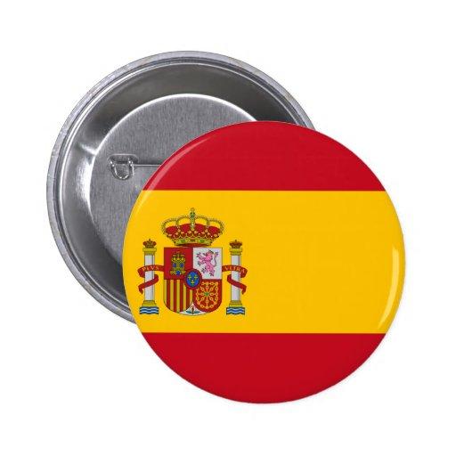 Drapeau de l'Espagne Badges Avec Agrafe