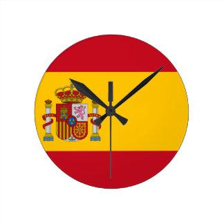 Drapeau de l'Espagne - le Bandera de España - Horloge Ronde