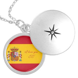 Drapeau de l'Espagne - le Bandera de Espana Médaillon Avec Fermoir