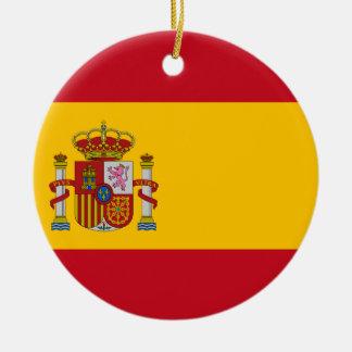 Drapeau de l'Espagne - le Bandera de España - Ornement Rond En Céramique