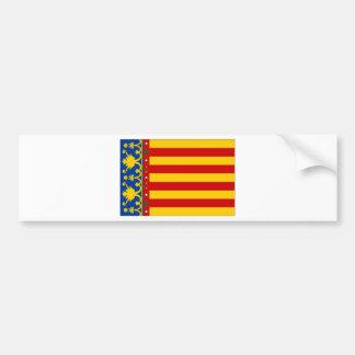 Drapeau de l'Espagne Valence Autocollant De Voiture