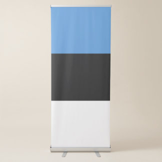 Drapeau de l'Estonie Banderole Rétractable