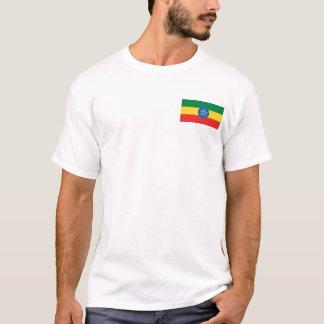 Drapeau de l'Ethiopie et T-shirt de carte