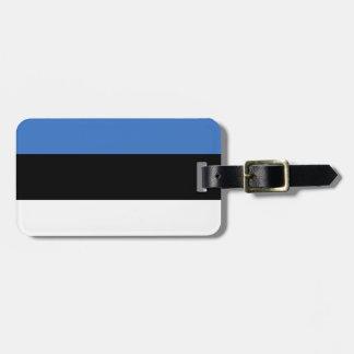 Drapeau de l'identification facile de l'Estonie Étiquette Pour Bagages