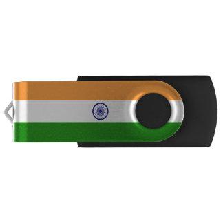 Drapeau de l'Inde Clé USB 2.0 Swivel