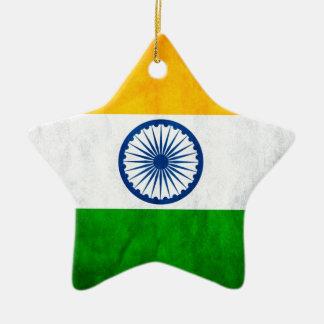 Drapeau de l'Inde Ornement Étoile En Céramique