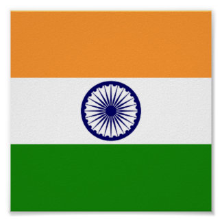 Drapeau de l'Inde Poster11x11