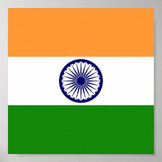 Drapeau de l'Inde Poster11x11 Poster
